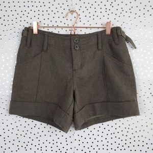 NWT Anthropologie Hei Hei Wool Blend Shorts Size 8